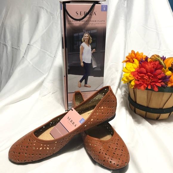 Serra Shoes   Ladies Memory Foam Slip